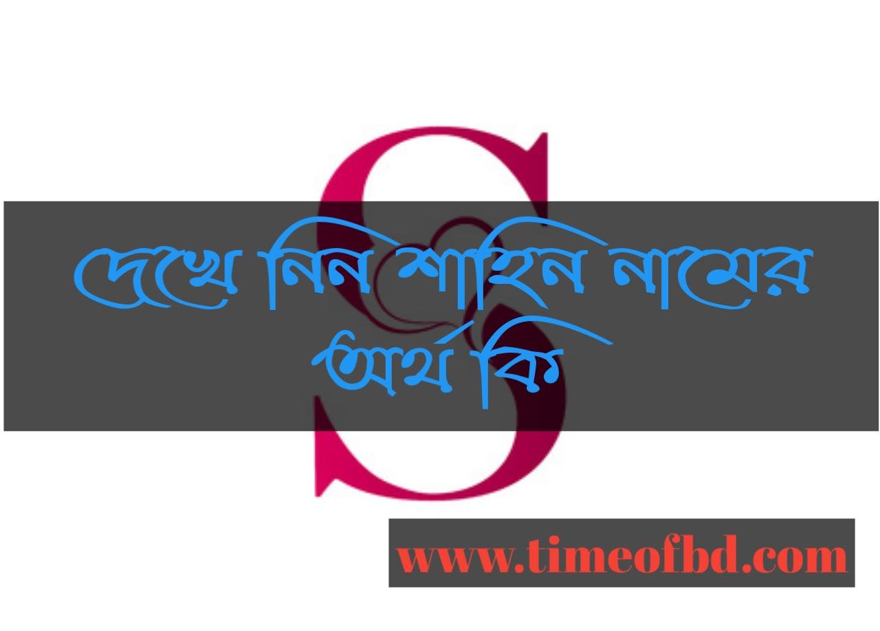 Shahin name meaning in Bengali, শাহিন নামের অর্থ কি, শাহিন নামের বাংলা অর্থ কি, শাহিন নামের ইসলামিক অর্থ কি,