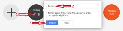 Cara Merubah Lingkaran (Circles) Di Google Plus