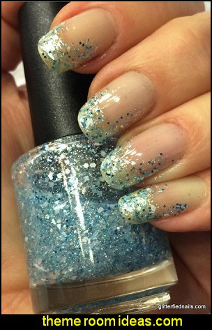 Frozen glitter nail polish winter white ice blue silver holographic elsa inspired nail polish frozen nails