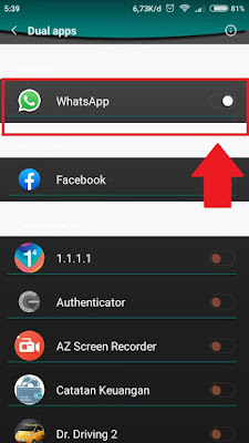 Membuat 2 akun whatsapp di 1 hp android
