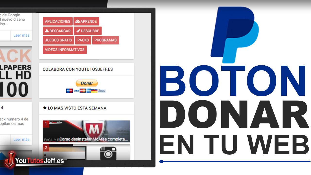 Como Poner Botón de Paypal en tu Pagina Web - Donaciones Paypal