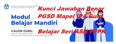 Kunci Jawaban PGSD Mapel IPA