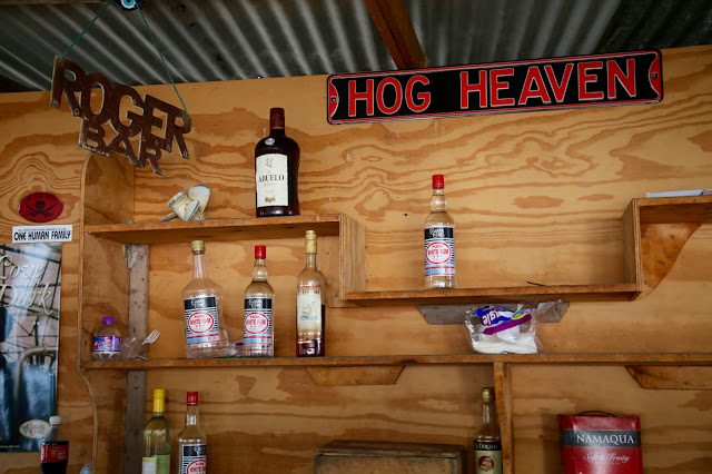 roger's barefoot beach bar, hog island, grenada