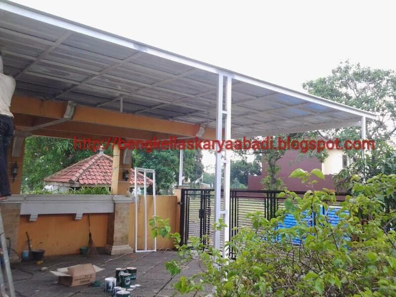gambar canopi minimalis atap spandek