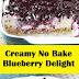 Creamy No Bake Blueberry Delight