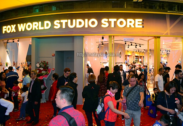 Opening of 20th Century Fox World Shop