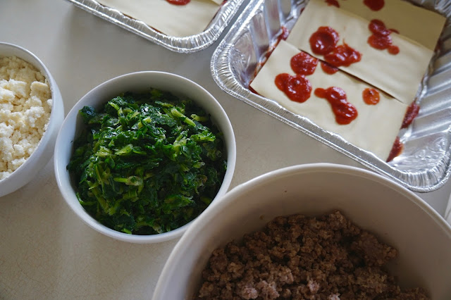 Sausage Spinach Lasagna Recipe to be made in batches for back to school preparation