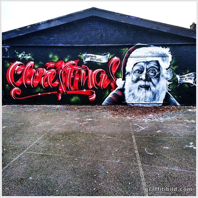 Graffiti Frohe Weihnachten, Weihnachts graffiti-Bilder