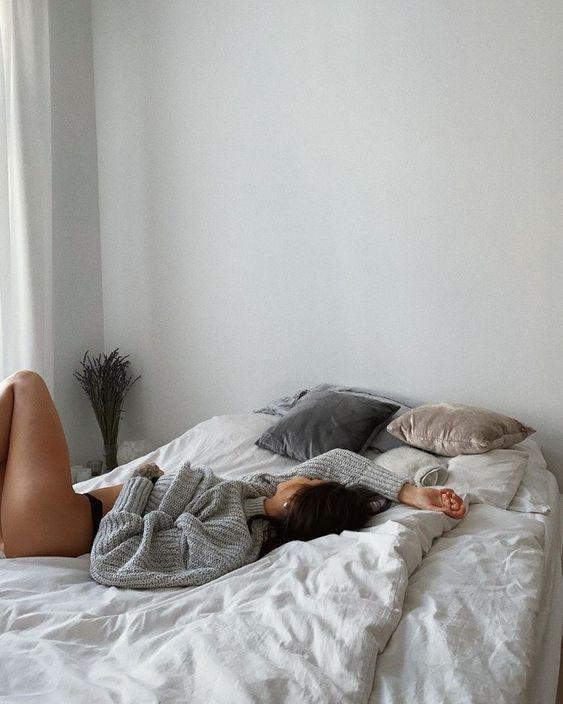 foto tumblr na cama