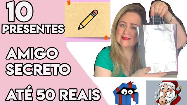 10 Dicas de Presente Amigo Secreto até 50 reais