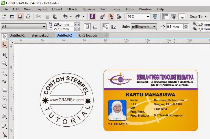 Tips Mencetak ID Card dan Stempel di CorelDraw X7 ~ GRAFISin
