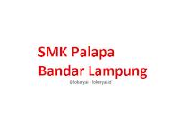 Lowongan Kerja SMK Palapa Bandar Lampung Terbaru