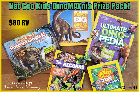 $80 Nat Geo Kids DinoMAYnia Prize Pack Giveaway