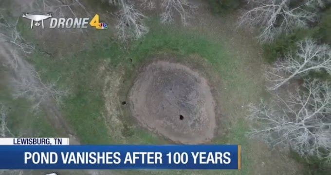 Mysterious Disappearance of 100 Years Old Pond