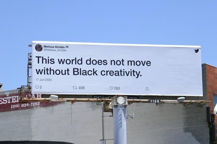 creativity Black Lives Matter Twitter billboard
