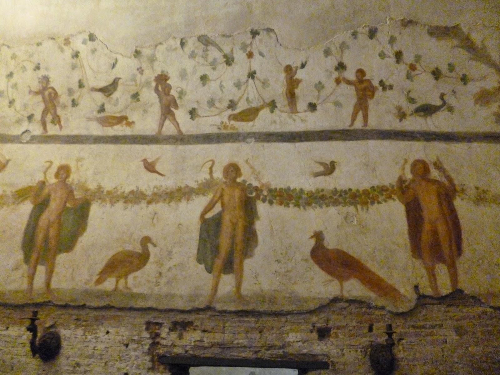 As casas romanas do Célio, temas pagãos