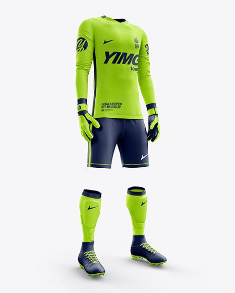 Men's Full Soccer Goalkeeper Kit mockup