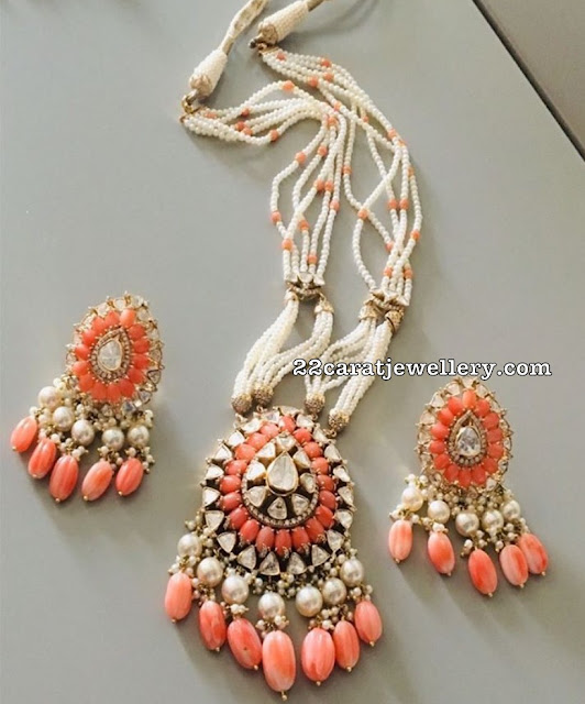 Coral Pendant by Amuktha Fine Jewelry
