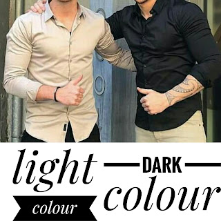 A golden colour and a black colour wearing guy.