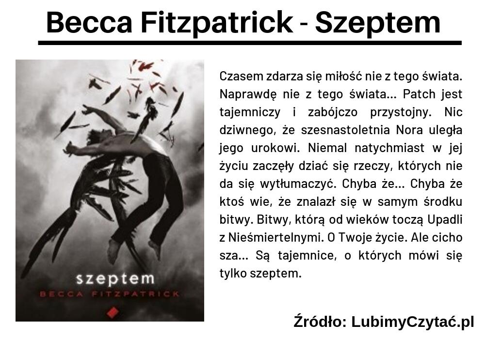 Becca Fitzpatrick - Szeptem, Cykl książkowy, Marzenie Literackie