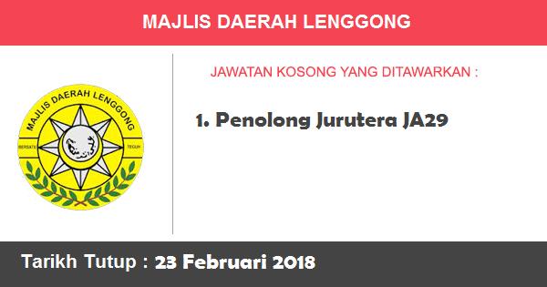 Jawatan Kosong di Majlis Daerah Lenggong