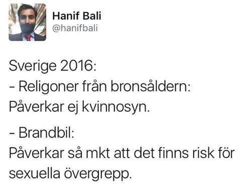 Hanif Balis syn på Sverige sitter som en smäck.