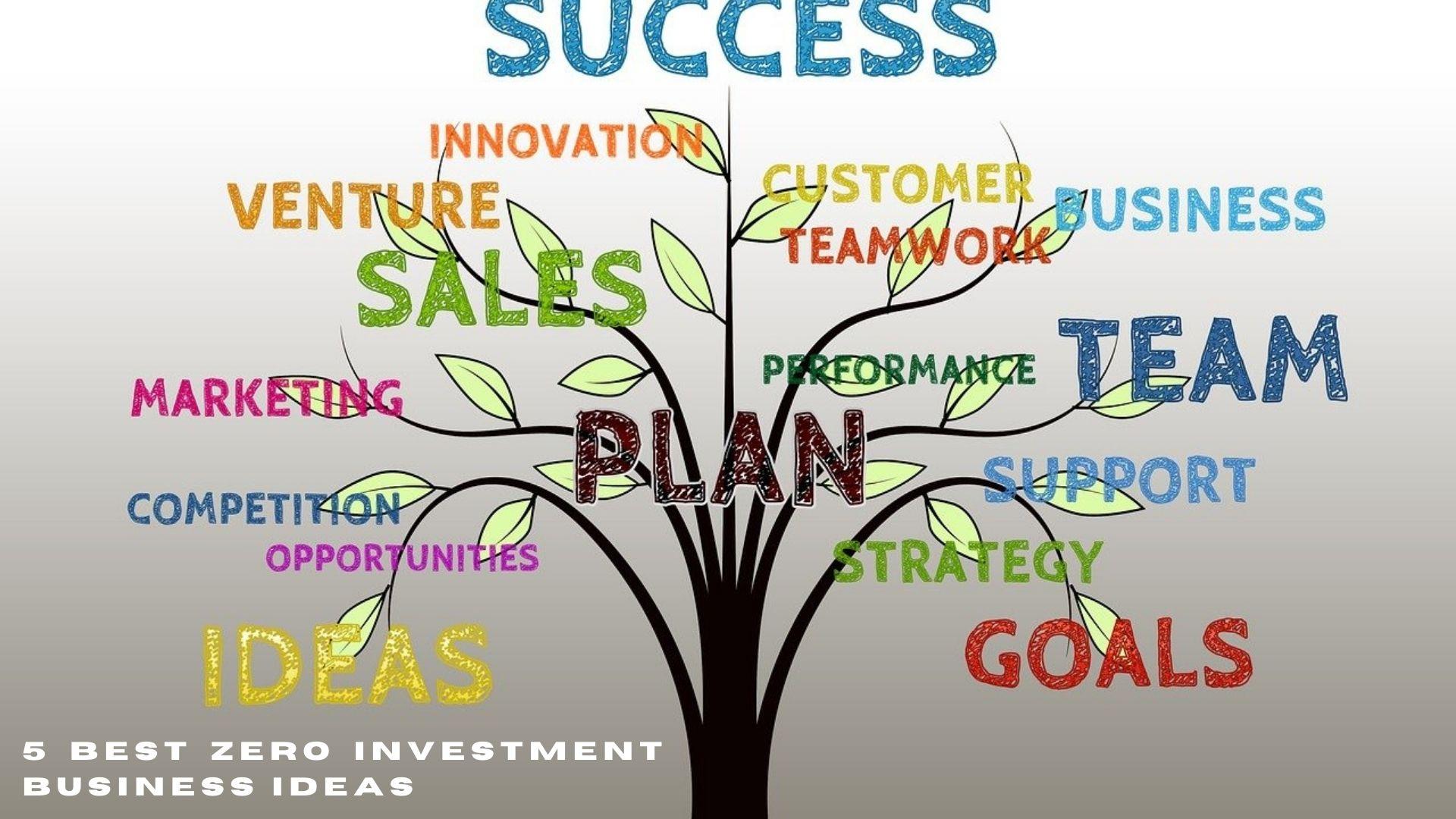 5 Best Zero Investment Business ideas