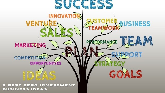 Top 5 Zero Investment Business ideas for 2022 - Most profitable business with no investment