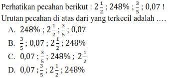 Soal Ujian Sekolah Matematika SD MI
