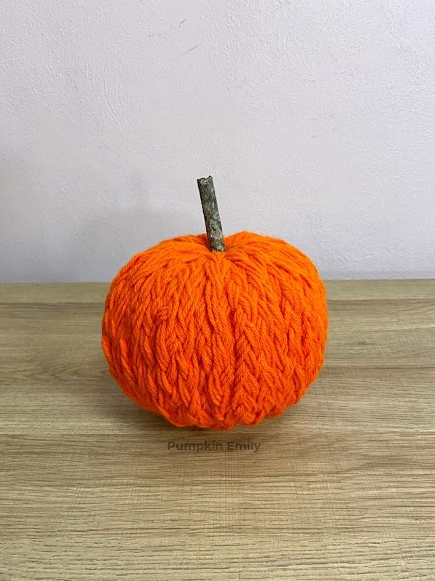 Orange DIY Braided Yarn Pumpkin
