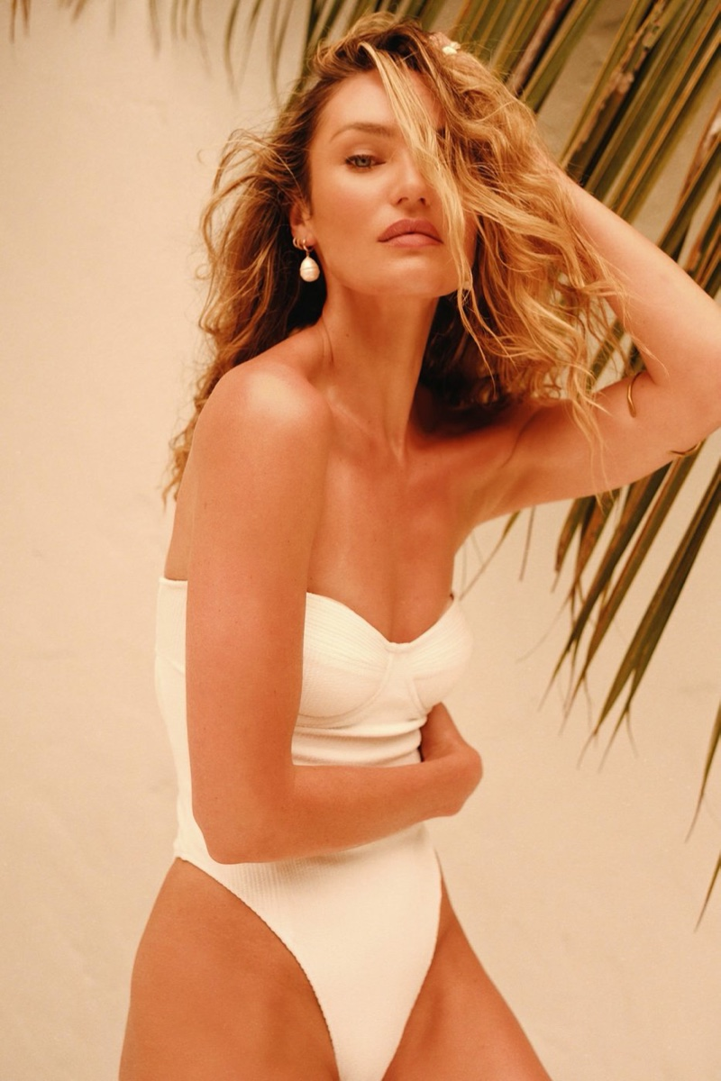 Tropic of C Margaux one-piece swimsuit worn by Candice Swanepoel.