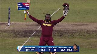 Chris Gayle 215 vs Zimbabwe Highlights