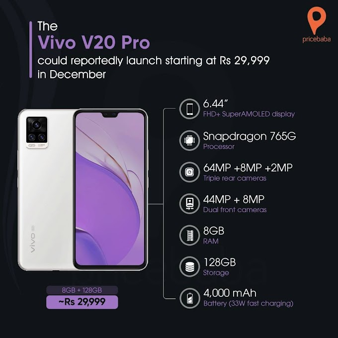 Vivo v20 pro - vivo v20 pro price in india upcoming smartphone 8GB - 128GB