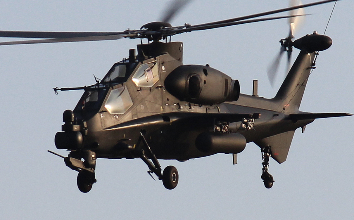 Chinese WZ-10 Attack Helicopter Take Part in Military ...