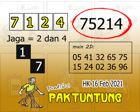 Prediksi Pak Tuntung Hk Selasa 16 Februari 2021