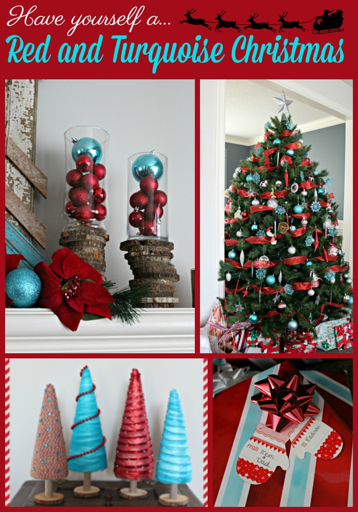 red and turquoise christmas decor - Red And Turquoise Christmas Decorations