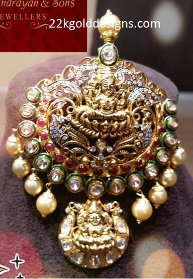 Lakshmi Polki Diamond Locket