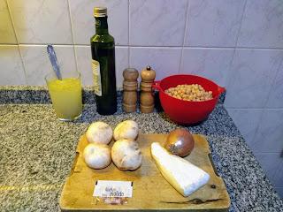 Garbanzos Con Champiñones Y Queso Brie
