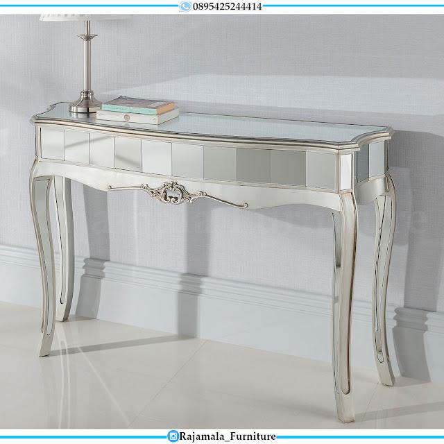 Desain Meja Konsul Minimalis Kaca Luxury Best Seller RM-0522
