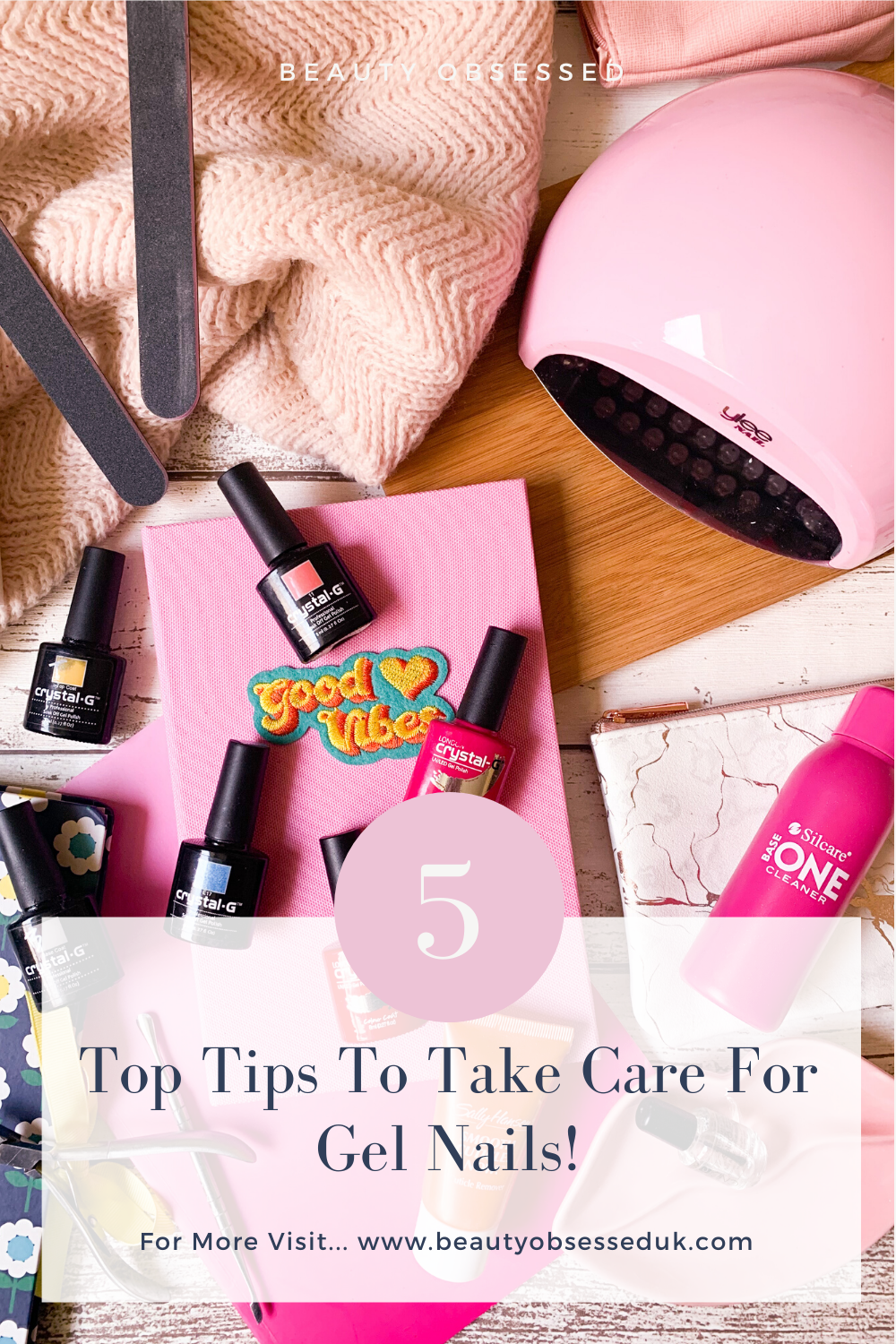 care for gel nails pinterest graphic