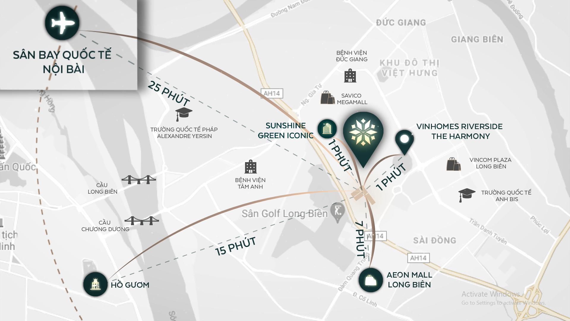 Kết nối thuận tiện đi trung tâm thành phố hoặc sân bay quốc tế