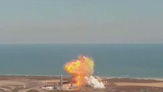Cohete Starship de la empresa espacial SpaceX explotó mientras intentaba aterrizar