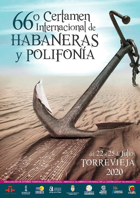 Cartel del Certamen de Habaneras de Torrevieja en la edición de 2020
