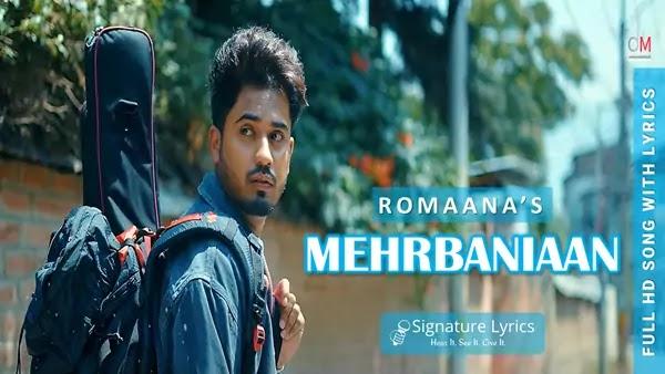 Mehrbaniaan Lyrics - Romaana   Jaydden   Punjabi Song