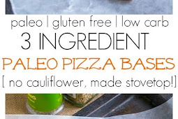 3 Ingredient Paleo Pizza Bases ( Paleo, Gluten Free, Low Carb )