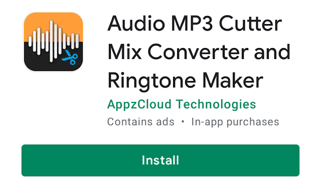 Audio MP3 Cutter Mix Converter and Ringtone Maker Android Apk
