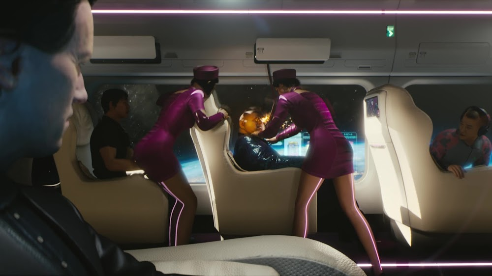 Orbital Air spaceplane from Cyberpunk 2077 game