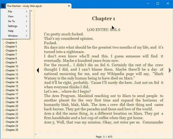 قراء الكتاب الاليكتروني windows10-سومطرة