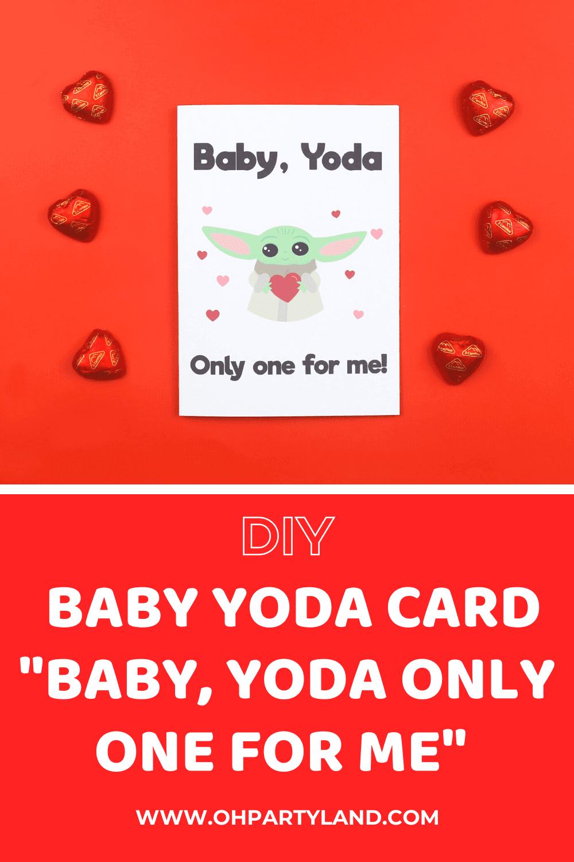 baby yoda Valentine's Day card