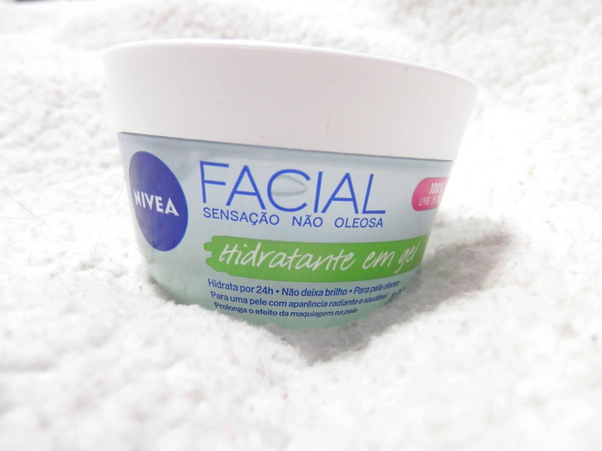 resenha hidratante em gel facial da Nívea
